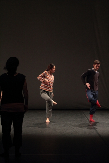 Yael Choreographing with Aya and George