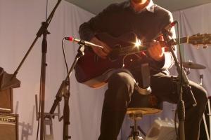 Dougie Evans Recording Acoustic Guitar
