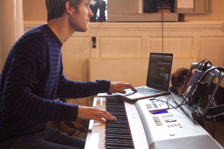 Dougie-Evans-Composing-Macbook-Piano