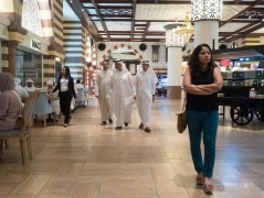 Emirati shoppers, Dubai Mall Market. Olympus 17mm f1.8.