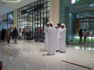Emirati men in Dubai Mall. Olympus 17mm f1.8